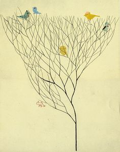 Birds in a tree.