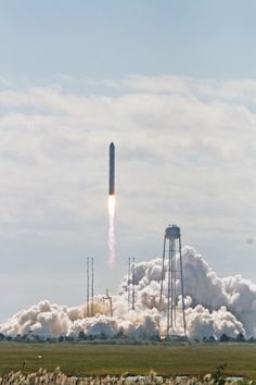 Antares Picture Perfect Blastoff Launches Commercial Space Race