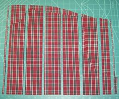 How to methodically cut up shirts for quilts.  Brilliant.