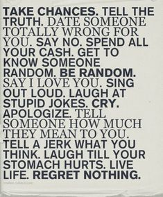 word of wisdom, life motto, check lists, new life, tell the truth