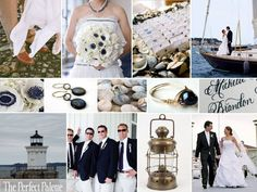 The Perfect Palette: {A Cape Cod Wedding}: A Palette of Navy Blue, Antique Gold & White