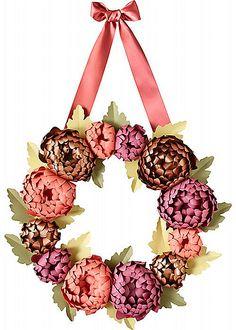 Paper wreath -Duet Letterpress