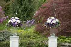 Purple and White Wedding | Toronto Botanical Garden