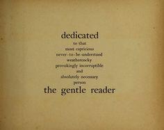book quot, gentl reader, dedic, book nerd, art, the reader, bibliophil, favorit quot