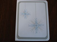 hand stitched Christmas card