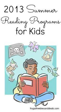 Summer Reading Programs For Kids  http://www.frugalfreebiesanddeals.com/summer-reading-for-kids/