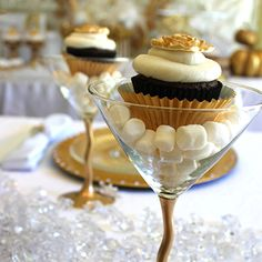 Cupcake + martini glass = New Year's Eve cupcaketini!