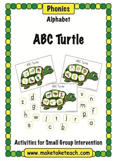 """FREE LANGUAGE ARTS LESSON - """"ABC Turtle"""" - Go to The Best of Teacher Entrepreneurs for this and hundreds of free lessons. #FreeLesson   #TeachersPayTeachers   #TPT   #LanguageArts  http://thebestofteacherentrepreneurs.blogspot.com/2012/07/free-language-arts-lesson-abc-turtle.html"""