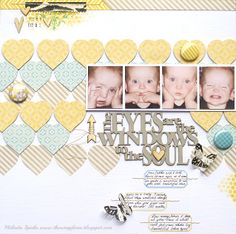 The Scrap Farm: The Eyes are the Windows to the Soul layout by Melinda Spinks