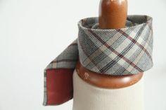 Vintage 70s Plaid Wool JC Penneys Necktie on Etsy $40