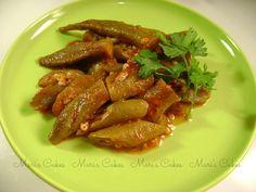 Molondrones Guisados @ Mari's Cakes  Okra, gumbo dish. Dominican food.
