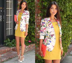 floral jacket+dress