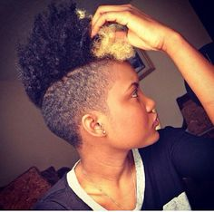 Natural Hair: Shaved Sides. Mohawk. Frohawk....so I just did this.