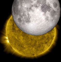 his is an image of a unique eclipse as viewed by NASA's Solar Dynamics Observatory, with a model of the moon from NASA's Lunar Reconnaissance Orbiter replacing the lunar shadow. Credit: NASA/SDO/LRO/GSFC