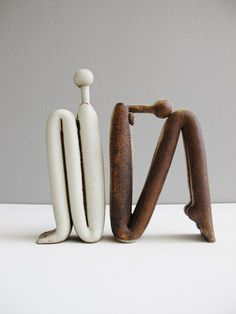 L-52 Small E+F Σωληνωτά Tube Figure #ceramicart