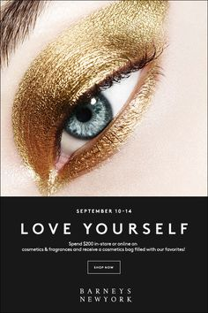 The Love Yourself event is back at Barneys New York! Spend $200 on beauty to score major cosmetics freebies!  #spotlight