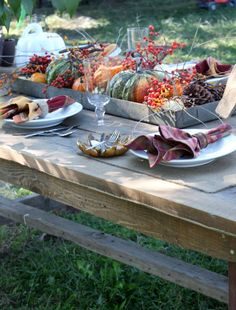Harvest Gathering tablescape