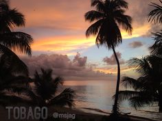 A beautiful sunset in #Tobago.