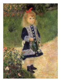 Girl with a Watering Can by Renoir.  This was the painting that was in my bedroom when I was little!