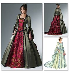 pattern for medieval dress dress patterns, costum, wedding dressses, ball gowns, queen, train, victorian dresses, steampunk, medieval dress