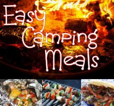 Delicious and easy to make camping meal ideas. From Hobo tin-foil dinners to kabobs, to 1-skillet masterpieces using a minimum of camping food.