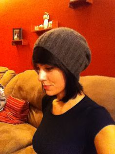 Simply slouch hat knitting pattern