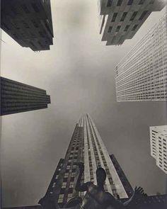 Wendell Macray. Fish-eye View of Rockefeller Center, 1939