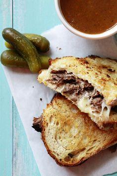 Slow Cooker French Dip Panini | Good Life Eats