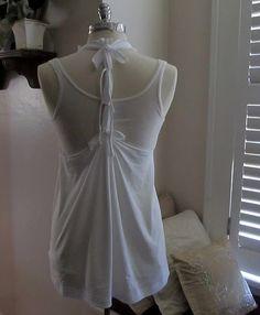 no sew T-Shirt vest~ Back