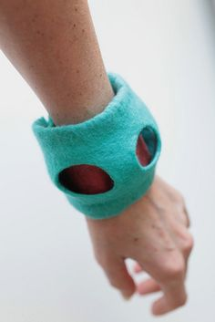 Felted Cuff Bracelet by FeltedPleasure, via Flickr    #felting #felt #felted #wool #feltedwool