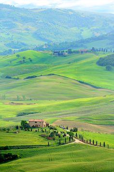 Tuscan landscape - Montepulciano, Siena