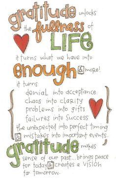 Gratitude :-)