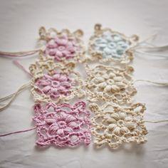 Puff Flower Motif found at Crochet Stitch Witch