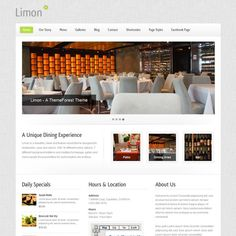 Limon is a nice design, clean and professional for wordpress. The theme is a wordpress theme perfect for spas, salon and restaurant site