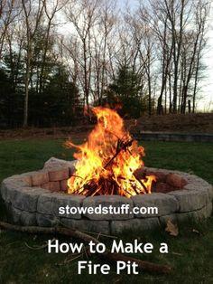How to Build a Fire Pit | stowedstuff.com #firepit #backyard #outdoors #DIY by www.stowedstuff.com