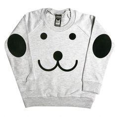 Smile Sweater Light Gray