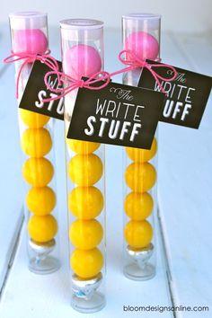 pencil gum ball tubes