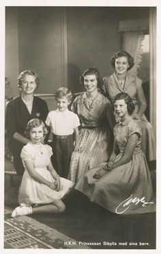 princess sibylla of sweden | Prinzessin Sibylla von Schweden mit ihren Kindern, Princess Sibylla ...