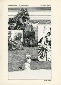 Illustration by Michael Foreman from the pulped American edition of The Atrocity Exhibition, published in Ambit no. 44, 1970