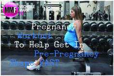 Pregnancy Workout To Help You Get In Pre-Pregnancy Shape Fast | Michelle Marie Fit  Great #pregnancy #exercises for legs and core to help that post pregnancy pooch. Love this #workout.