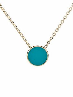 Mint Circle Necklace by American Apparel