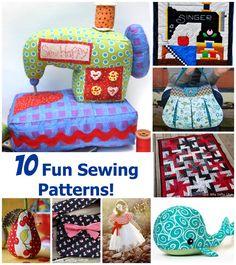 10 fun sewing patterns!