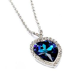 Swarovski Crystal Heart of the Ocean Neacklace - Just $19