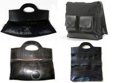 Carteras y accesorios producidos con neumáticos reciclados