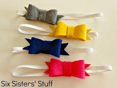 diy headband, felt bow, bow tutorial, bow hairbow, girls bows