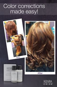 Marie Lambert at Mia Bella salon shows us how easy (and gorgeous) color corrections can be when you use Kenra Color Corrector!