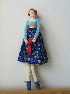 Another one who made a Tilda with my pattern,her blog is adorable!!!