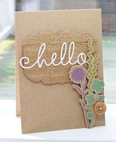 Lisa Johnson, Poppy Paperie, wildflowers, woodgrain, kraft, hello diecut