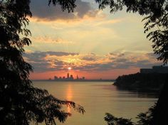 Photo of the Cleveland Skyline taken by  M.Cliffel in Lakewood, Ohio. Just Beautiful!