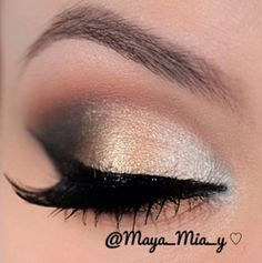 Gold, Bronze & Brick colored smokey eye makeup